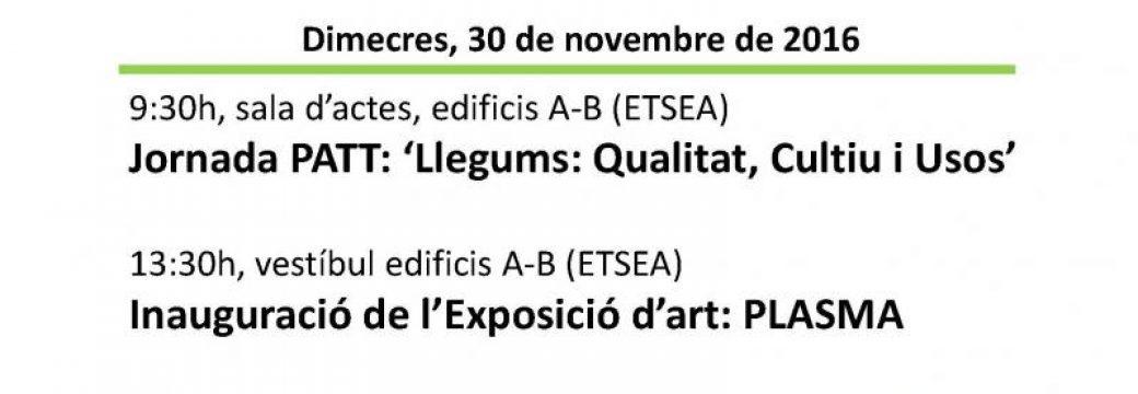 Actes commemoratius Any Internacional dels Llegums (ETSEA Lleida, 30 novembre 2016)