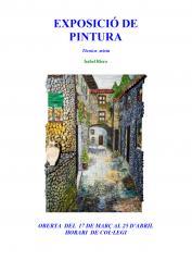 Exposició de pintura a la seu del Col.legi a Barcelona (març-abril 2008)