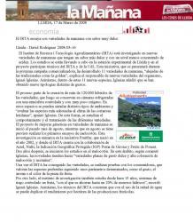 El dia 16 de març ha sortit a la premsa el nostre company Ignasi Iglesias, investigador de l'IRTA a Lleida.