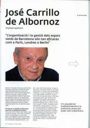 A la revista Barcelona Verda surt el company José Carrillo de Albornoz