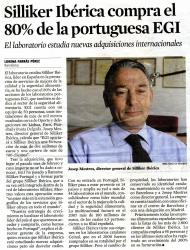 Article publicat sobre Silliker Ibérica, de la qual n'és el Director General el nostre company Josep Mestres.