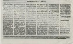 Publicació al Diari La Mañana d'article del COEAC.