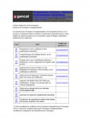 Criteris d'aplicació de la normativa d'incendis:Instruccions tècniques complementàries del Departament d'Interior, Relacions Institucionals i Participació.