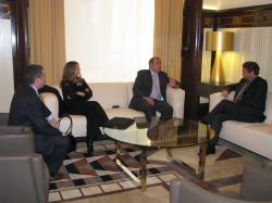 Audiència amb el president del Parlament de Catalunya.