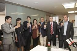 Presentació del primer cava gran reserva d'agricultura biodinàmica a la seu del Col.legi a Barcelona.