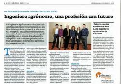 """Monogràfic especial de La Vanguardia: """"Ingeniero agrónomo, una profesión con futuro"""""""