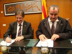 Signatura del conveni de col·laboració entre el Consorci AOC i el Col·legi Oficial d'Enginyers Agrònoms de Catalunya  el dilluns, 18 de gener de 2010
