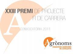Premi de Projecte Fi de Carrera. Convocatòria 2011