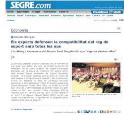 Publicitat als mitjants de comunicació de la jornada COEAC dins el marc de la Fira de Sant Miquel de Lleida