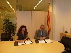 Signatura de conveni entre el COEAC i l'ICAEN