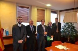 El conseller Pelegrí ha apadrinat el conveni de col·laboració entre el COEAC i  altres tres col·legis oficials d'enginyers del sector agrari i forestal