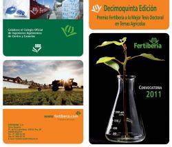 XV edició Premi FERTIBERIA a la Millor Tesi Doctoral en Temes Agrícoles
