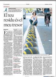 """La companya, Verònica Kuchinow, ha sortit al suplement """"Viure"""" de La Vanguardia, publicat el diumenge dia 3 de juny de 2012."""
