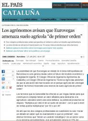 El Pais digital es fa ressò de l'article sobre Eurovegas.