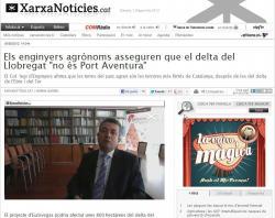 Entrevista al secretari del COEAC, Pau Oromí, sobre el Parc Agrari del Llobregat a la Xarxa de Televisions Locals de Catalunya