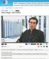 Entrevista al company, Pep Salas, en el programa de tv3 Valor afegit