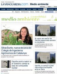 La Vanguardia digital es fa ressò de l'elecció de la nova degana del COEAC.