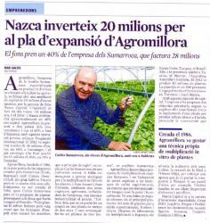 Nazca inverteix 20 milions per al Pla d'expansió d'Agromillora