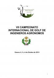 VII CAMPIONAT INTERNACIONAL DE GOLF D'ENGINYERS AGRÒNOMS (Cáceres, 4, 5 i 6 octubre 2013)