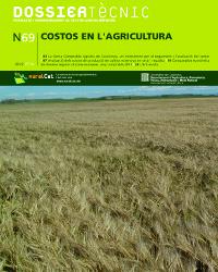 """""""Costos en l'agricultura"""" DOSSIER TÈCNIC"""