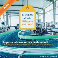 El COEAC Ofereix 10 Beques de 1.000 euros per al Curs Superior Gestió Indústries Agroalimentàries