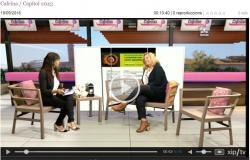 Entrevista a la delegada de Lleida, Conxita Villar al programa Cafeïna de Lleida Televisió.