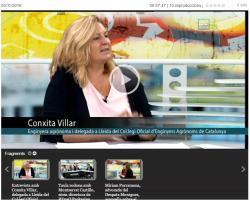 Debat Agroalimentari sobre Economia Circular a Lleida TV amb la delegada de Lleida, Conxita Villar