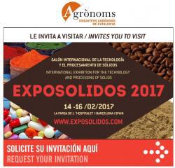 El COEAC col·labora amb EXPOSOLIDOS 2017. El Saló de la Tecnologia i el Processament de Sòlids.