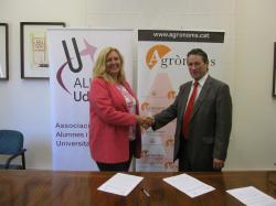 Signatura del Conveni de col·laboració entre Alumni UdL i el Col·legi Oficial d'Enginyers d'Agrònoms de Catalunya a Lleida
