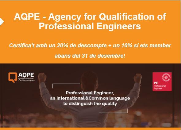 PROMOCIÓ: Certifica't amb l'AQPE abans del 31 de desembre de 2017 a un preu especial