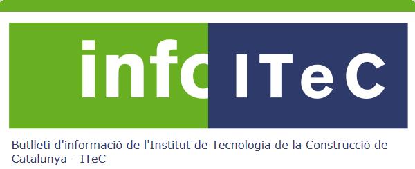 InfoITeC Núm. 154.  Butlletí informatiu de l'Institut de Tecnologia de la Construcció
