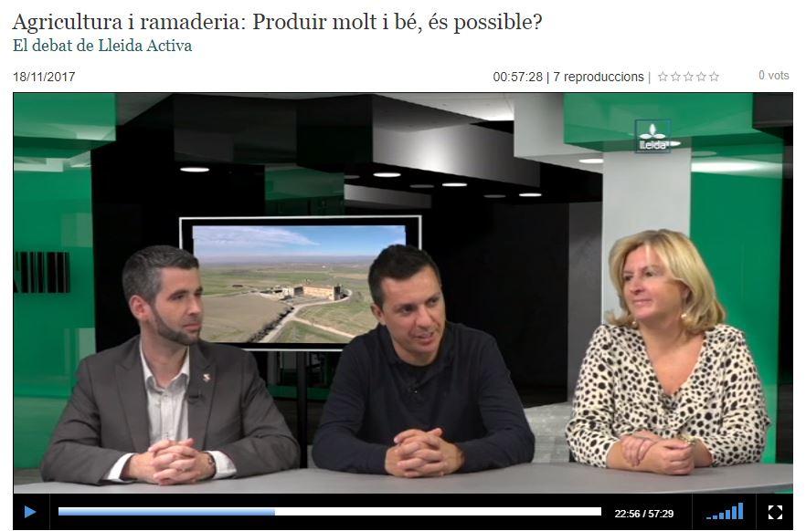 VÍDEO: Els Enginyers Agrònoms al Debat de Lleida Activa (TV Lleida)