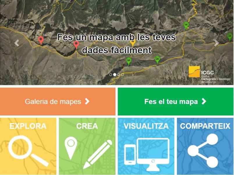 Instamaps. Nova plataforma web de l'Institut Cartogràfic i Geològic de Catalunya (ICGC)