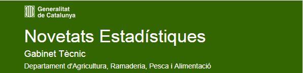 Consulta les Novetats Estadístiques del Departament d'Agricultura, Ramaderia, Pesca i Alimentació