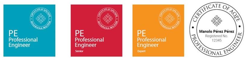 Es presenta el segell que acredita la certificació PE (Professional Engineer)