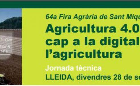 Jornada: Agricultura 4.0: cap a la digitalització de l' agricultura