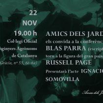 Conferència de Blas Parra (escriptor) entorn a la figura del gran paisatgista Russell Page