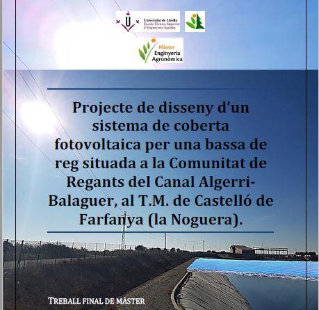 """Guanyador del I Premi d'Excel·lència al millor Treball Final de Màster (TFM) de titulació """"Màster en Enginyeria Agronòmica"""" (MENAG)"""