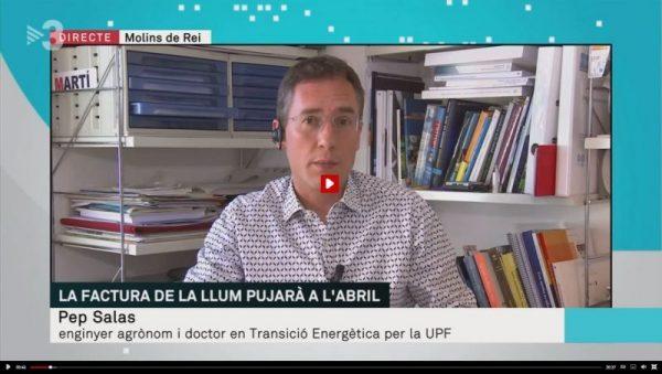Connexió amb el company Pep Salas als Matins de TV3