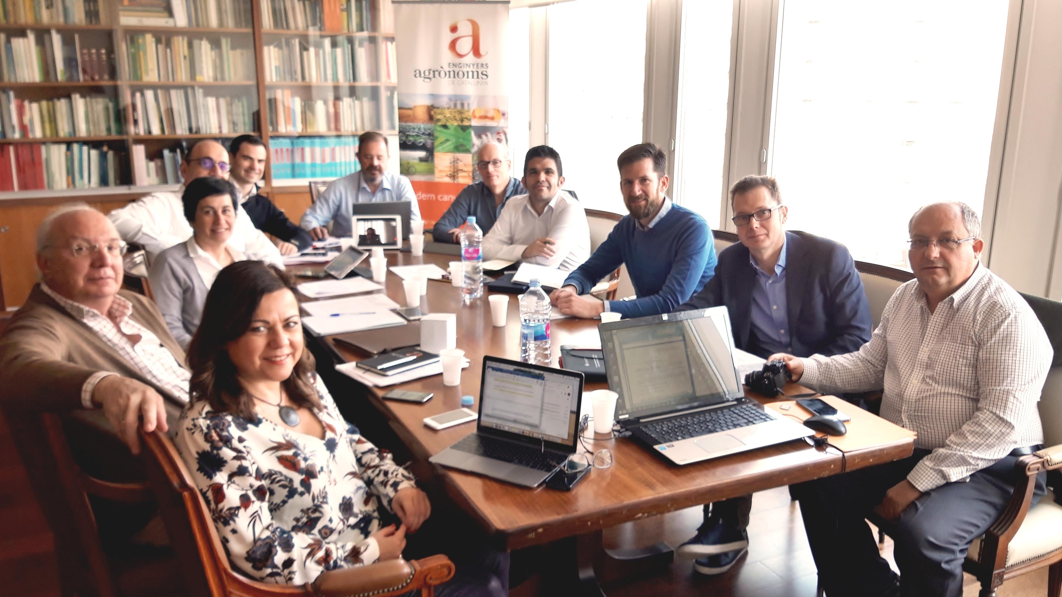Reunió a la seu del COEAC Barcelona dels secretaris tècnics dels col·legis d'enginyers agrònoms