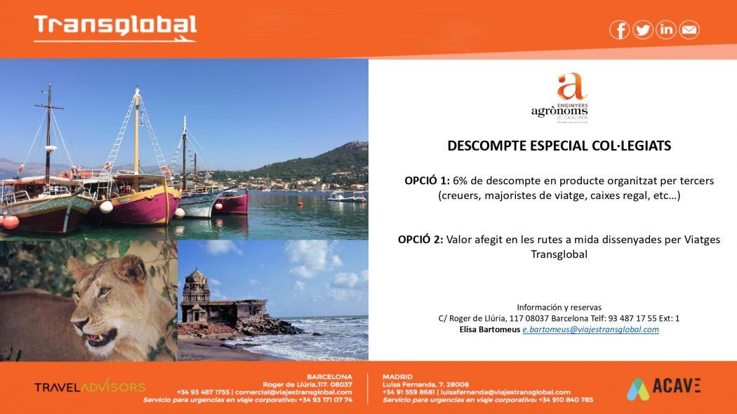 Preus especials amb l'agència de viatjes Transglobal