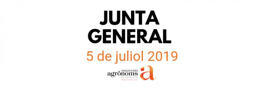 Junta General d'Enginyers Agrònoms 5 de juliol a Barcelona