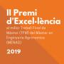 II Premi d'Excel·lència al millor Treball Final del Màster en Enginyeria Agronòmica (MENAG) 2019