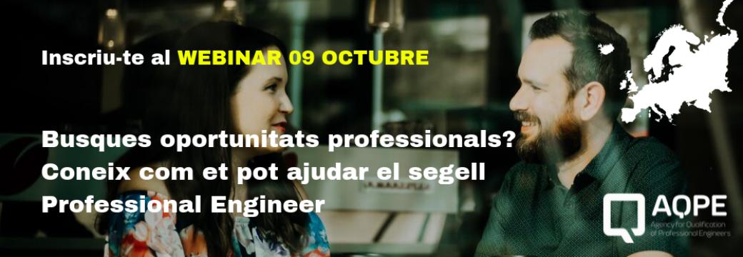 WEBINAR: Busques oportunitats professionals?
