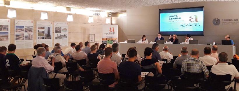 Molt bon ambient i participació a la Junta General d'Enginyers Agrònoms, juliol 2019