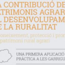 """Jornada """"La contribució dels patrimonis agraris al desenvolupament de la ruralitat"""""""