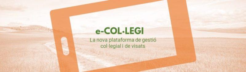 Guia d'accés i funcionament de la nova plataforma de gestió col·legial i de visats: e-COL·LEGI