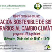 Taller de formación online gratuito: Adaptación sostenible de sistemas agrarios al cambio climático. Proyecto LIFE AgriAdapt