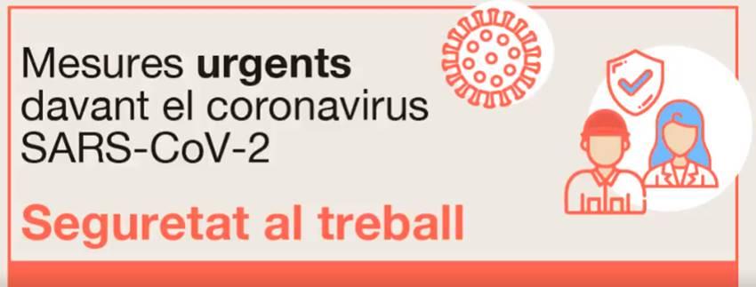 Recomanacions per a empreses i persones treballadores sobre actuacions vinculades a les situacions que es puguin produir per l'efecte del coronavirus SARS-CoV-2