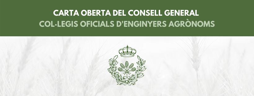 Carta oberta del Consejo al ministre i als consellers autonòmics d'Agricultura, Ramaderia, Pesca i alimentació i a l'opinió pública